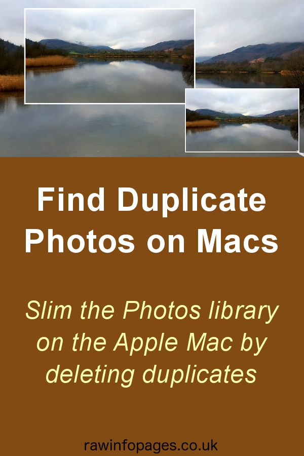 Find Duplicate Photos In The Photos Library On Apple Mac Photo