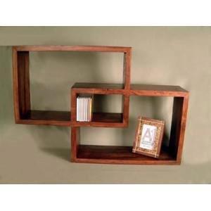 Me encanta el diseño de esta Repisa Rústica, medidas 60 cm x 40 cm (cada cubículo), en madera de Pino