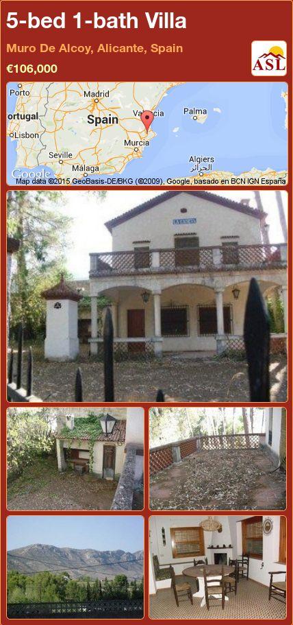 5-bed 1-bath Villa in Muro De Alcoy, Alicante, Spain ►€106,000 #PropertyForSaleInSpain