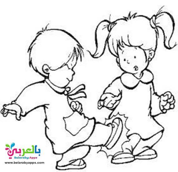 رسومات عن التنمر بالقلم الرصاص أفكار عن التنمر بالعربي نتعلم Coloring Pages For Boys Drawings School Rules Activities