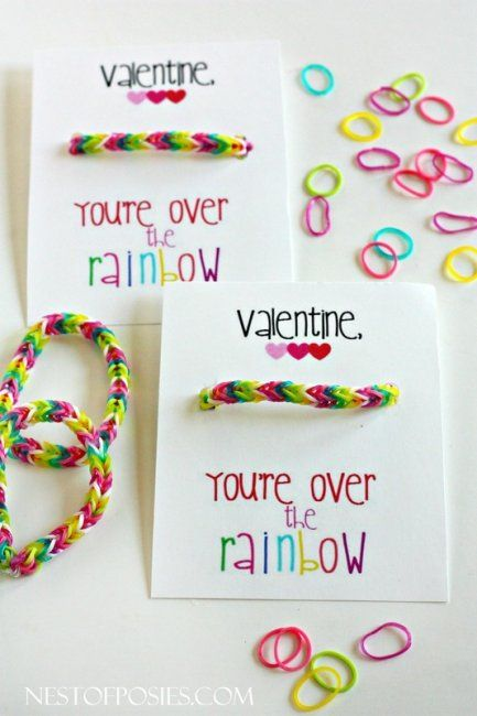 Rainbow Loom valentines are popping up everywhere! #BabyCenterBlog #valentinesday