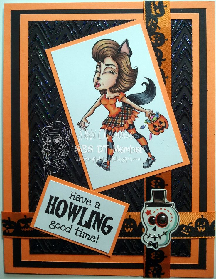 Howling Hannah from Simply Betty Stamps.