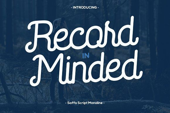 Saffa Recordminded by Viaction Design on @creativemarket