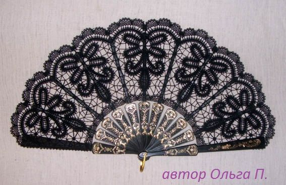 Lace Fan-2 bobin lace