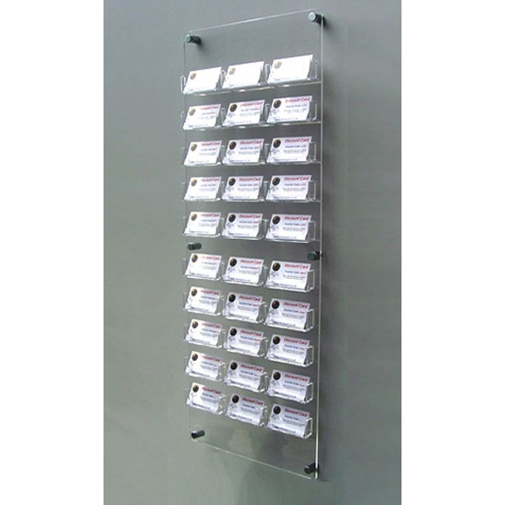 30 bay wall mount business card holders suitable for dispensing and displaying business cards