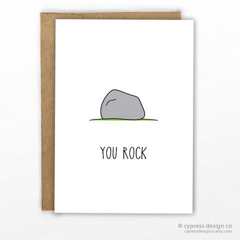 You Rock Funny Pun Greeting Card More More