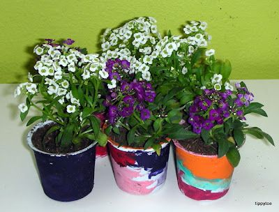 Recycled K-Cups!!!  Tippytoe Crafts: K-Cup Flower Pots