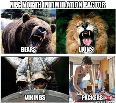 NFC North- Bears! Lions! Vikings! Packers?