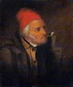 'Man With Red Hat and Pipe' Cornelius Krieghoff