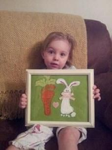 Easter craft using footprints - I would do this if I had little ones around...cute idea!