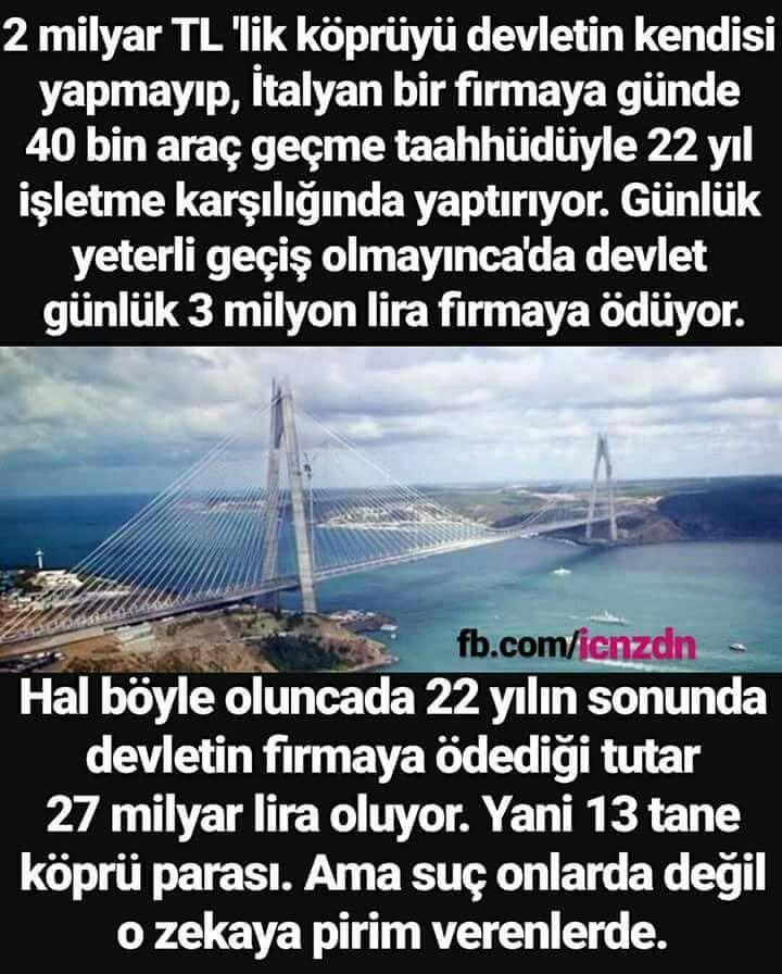RTE YAPTIĞI YOL VE KÖPRÜ HESABI..