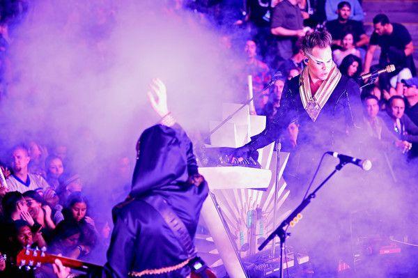 Luke Steele Photos Photos - Recording artist Luke Steele(R) of music group Empire of the Sun performs onstage at KROQ Weenie Roast 2016 at Irvine Meadows Amphitheatre on May 14, 2016 in Irvine, California. - KROQ Weenie Roast 2016