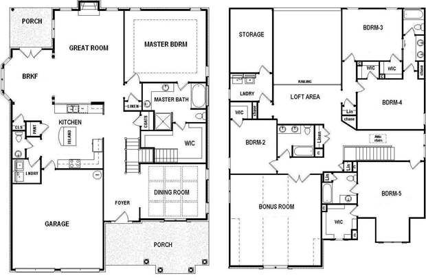 204 best images about bill beazley floor plans on for 5 bedroom house plans with bonus room