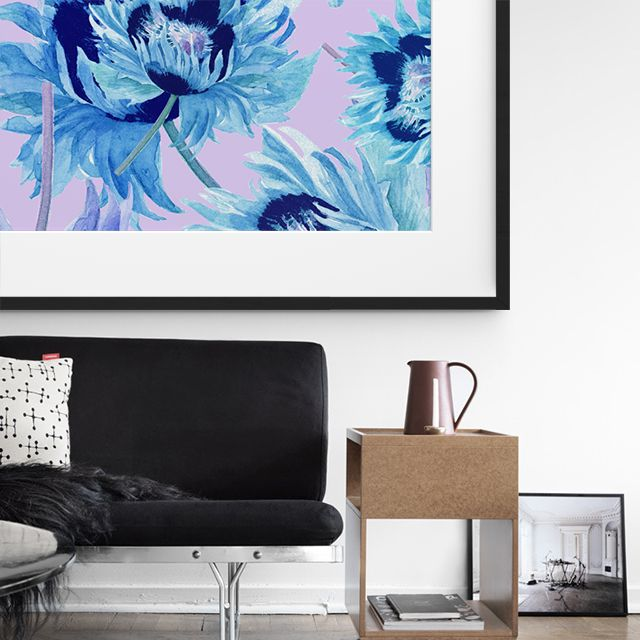 Need some Inspiration this Holiday Season? Check out this beautiful floral framed artwork making a standout in this minimal living room!
