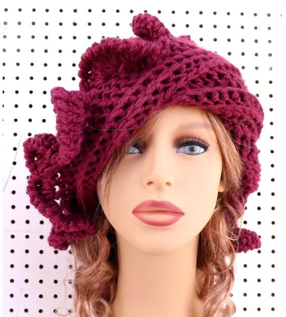 Check out this item in my Etsy shop https://www.etsy.com/listing/190195189/red-cloche-hat-red-womens-crochet-hat