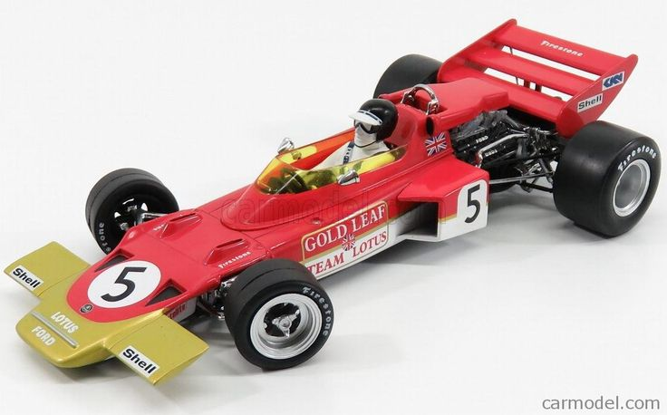 QUARTZO 18276 Scale 1/18  LOTUS F1  72C TEAM LOTUS N 5 WINNER BRITISH GP JOCHEN RINDT 1970 WORLD CHAMPION RED GOLD