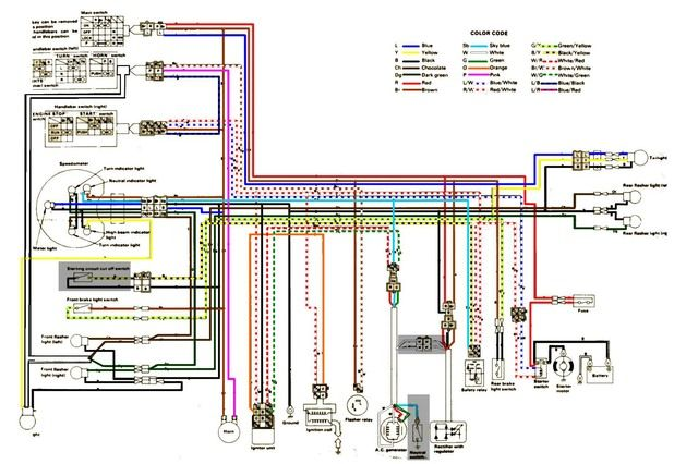 the 31 best motorcycle wiring diagram images on pinterest rh pinterest co uk Yamaha 40 HP Wiring Diagram 1972 Yamaha 125 Electrical Diagrams