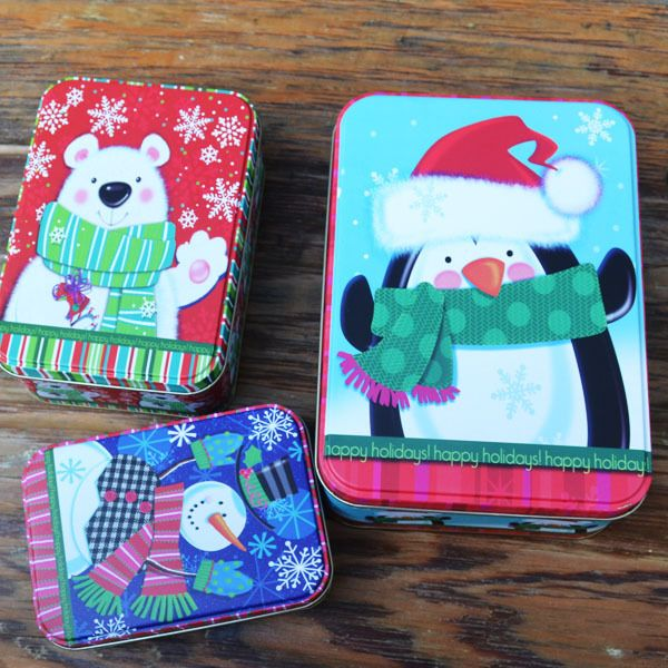 105 best Christmas Tin Containers images on Pinterest | Tin ...