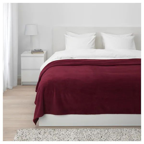 Trattviva Bedspread Dark Red 91x98 Lits Rouges Couvre Lit Lit Double Ikea