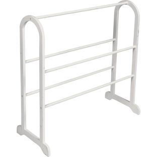 Buy Contemporary Wooden Towel Stand - White at Argos.co.uk - Your Online Shop for Towel rails and rings.