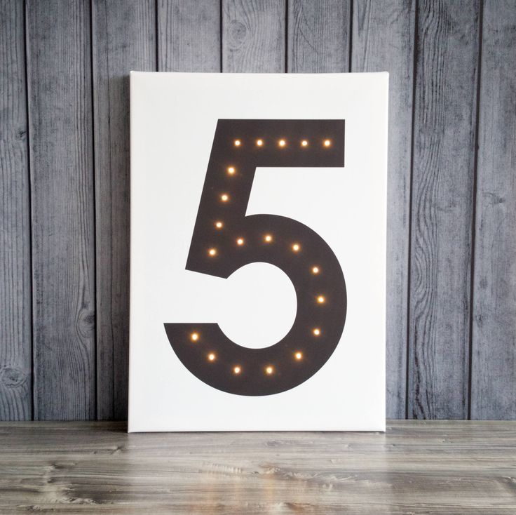 Personalized and customized LED illuminated number - gift design night light up decor loft sign birthday wedding anniversary photo props by COSnieCOS on Etsy