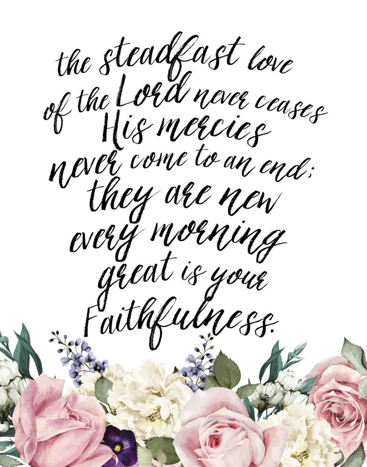 The steadfast love of the Lord – Lamentations 3:22-23   Seeds of Faith