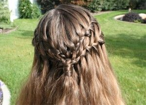 Double Waterfall Braid... so beautiful! Cute girls hairstyles is AWESOME!!:)  Check them out on youtube at CGHS.