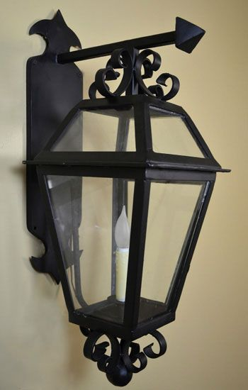 29 best outdoor lighting images on pinterest wall mount custom iron lighting are manufactured from hand forged wrought iron wall mounts are collection aloadofball Images