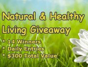 Healthy Living Giveaway – 14 Winners: Essential Oils, Coconut Oil, Organic Foods, Trader Joes and Whole Foods Gift Cards and More