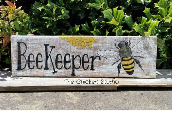 Beekeeper Sign Apiary Sign Bee Decor Apiarist Bee Sign