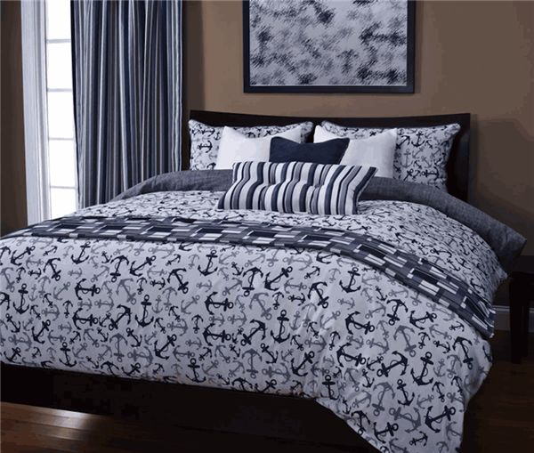 anchors away in blue premiium bedding collection sets by sis covers
