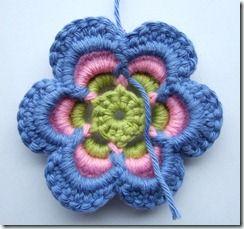 DIY crocheted flower, great tutorial