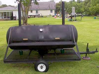 Plans for a large steel smoker and trailer from a couple for Deep pit bbq construction