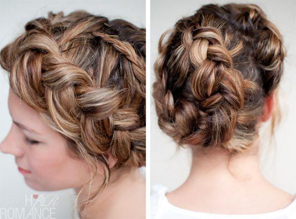 halo braid tutorial - with a twist: French Braids, Hairstyles, Hair Styles, Hair Braids, Google Search, Braid Hair