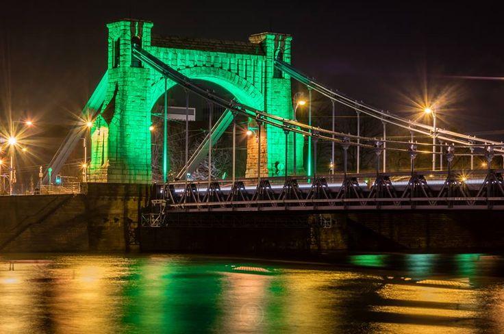 Foto Radek Karliński   Wczorajszy #stpatrickday na moście Grunwaldzkim.