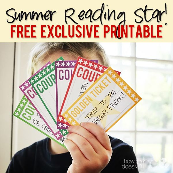 FREE Summer Reading Package for Your Family! Print the coupons, stars, and banner and make this summer a great learning experience!