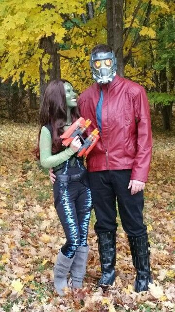 Gamora and Peter Quill