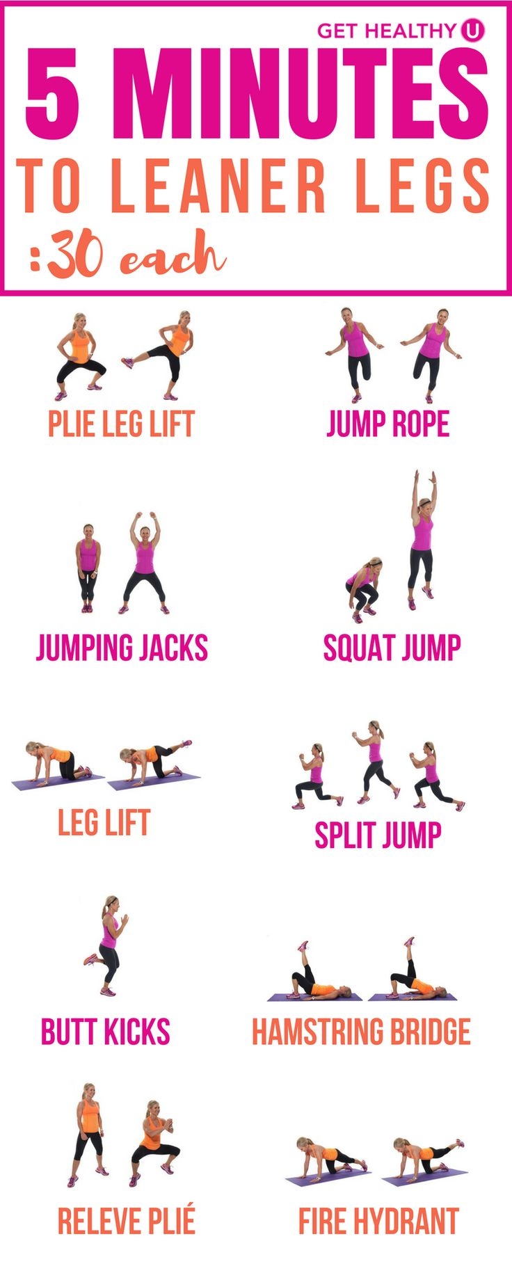 """Let's create something a little leaner, stronger, and get rid of some of that extra """"stuff' on the outer edge that we don't like so much! This workout gives you five great exercises that will tone and tighten your thighs. Then you will get five bonus high intensity cardio moves to help you shed fat."""