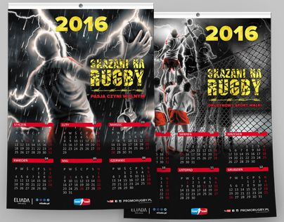 """Check out new work on my @Behance portfolio: """"2016 Calendars Skazani na RUGBY"""" http://be.net/gallery/32728737/2016-Calendars-Skazani-na-RUGBY"""