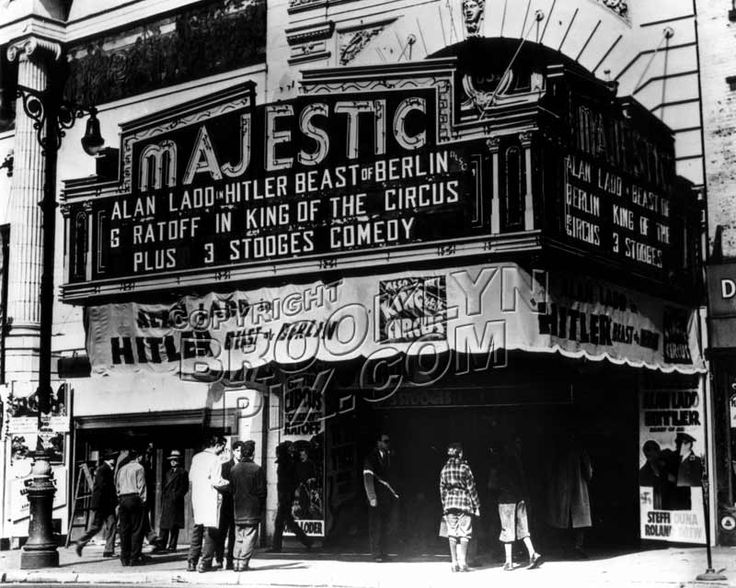 Majestic Theater At 651 Fulton Street 1940s Old N Y