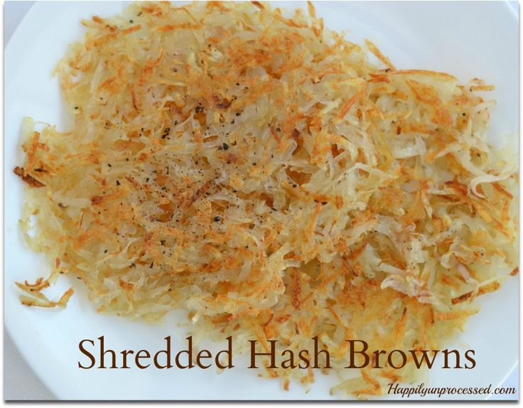 There are 2 secrets in getting your shredded hash browns NOT TO STICK to the pan and end up burnt and undercooked.  Want to know what they are?