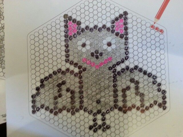 Perler Bat - use large hexagon