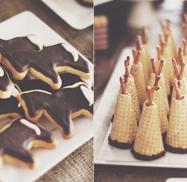 Cowboy and Indian cookies