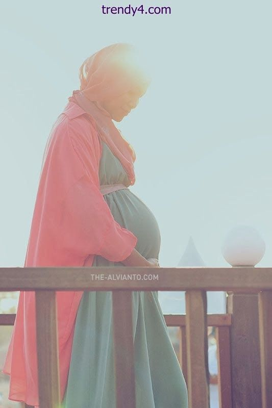 Hijab Style For Pregnant Womens