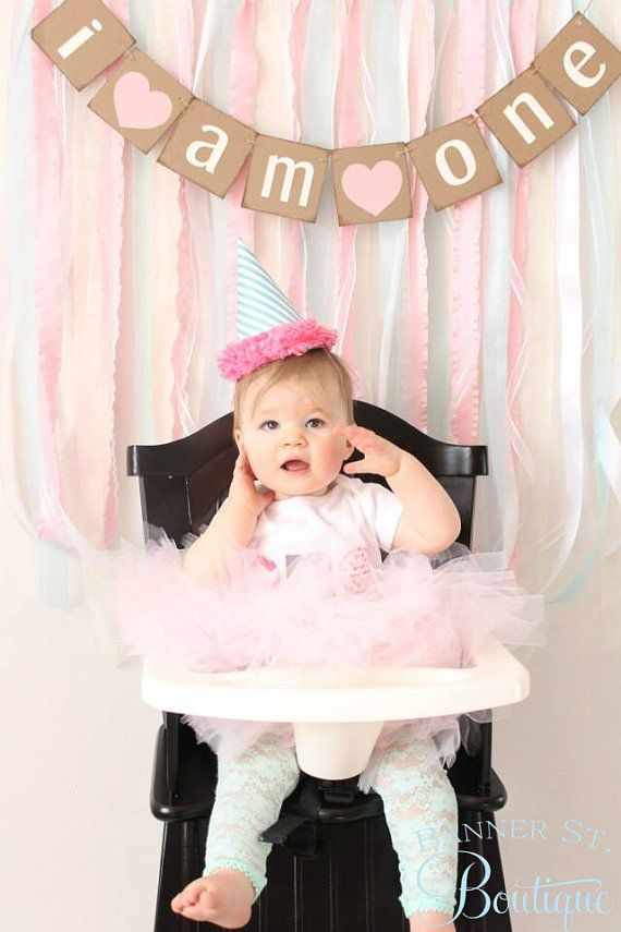 I am one Banner-Choose your colors-First Birthday Banner-First Birthday Photo Prop on Etsy, $16.00