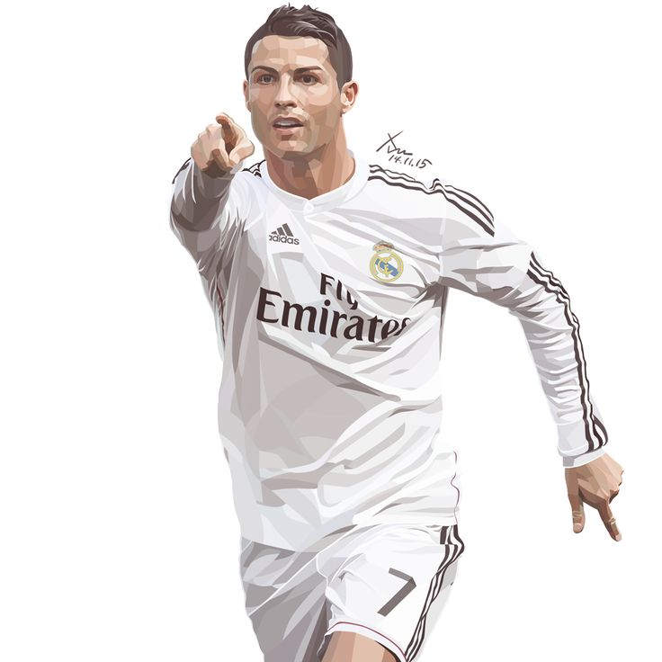 Cristiano Ronaldo in Real Madrid. Traced by Photoshop. 15cm X 15cm