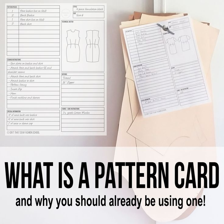 Find out exactly what a pattern card is and why you're missing out if your not using one!