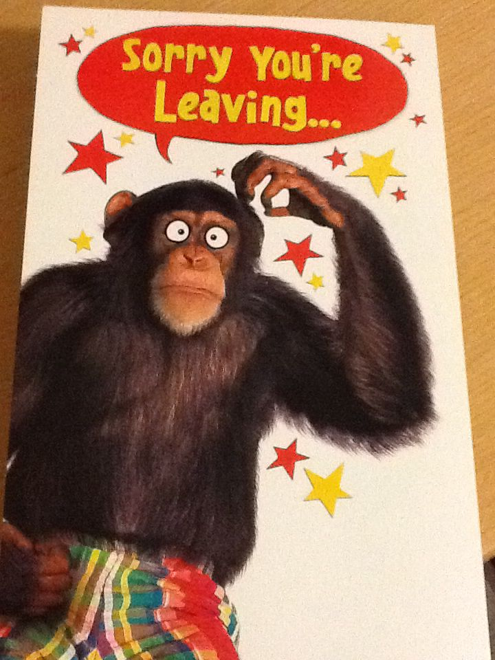 Dad is now out of the hospital. His card re. what the surgeons had to remove. #humour