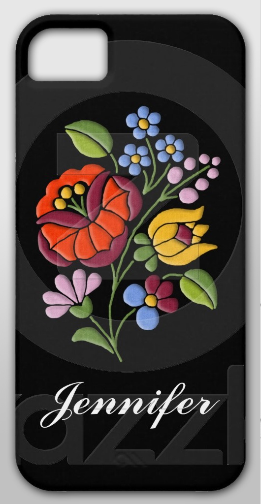 Kalocsa Embroidery - Hungarian Folk Art personalizable Case-Mate Barely There Universal iPhone 5 Case $44.40 #iPhone #cases #Hungary #Hungarian #folk #floral #flowers #colorful