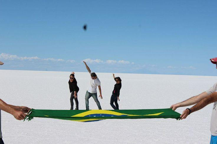 Salar de uyuni, Bolivia :) Funny pictures.